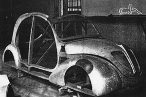 Het door het geheime ontwerpteam ontwikkelde TPV-prototype, waarbij het ontwerp ook drastisch werd aangepakt tegen de zin van Pierre Boulanger in.